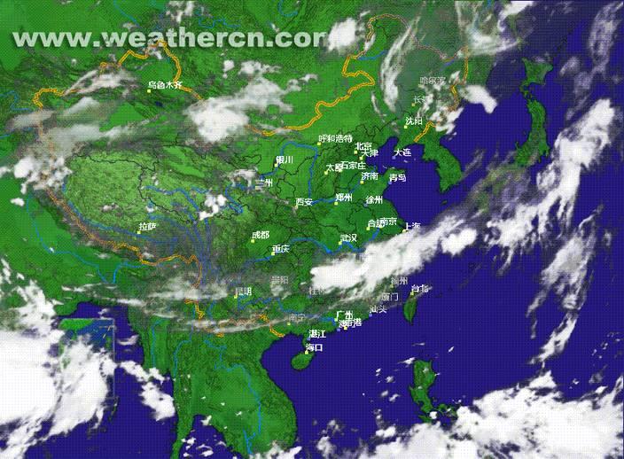 卫星云图又出问题了,参见新浪天气,昨天11点 13点出现突变图片